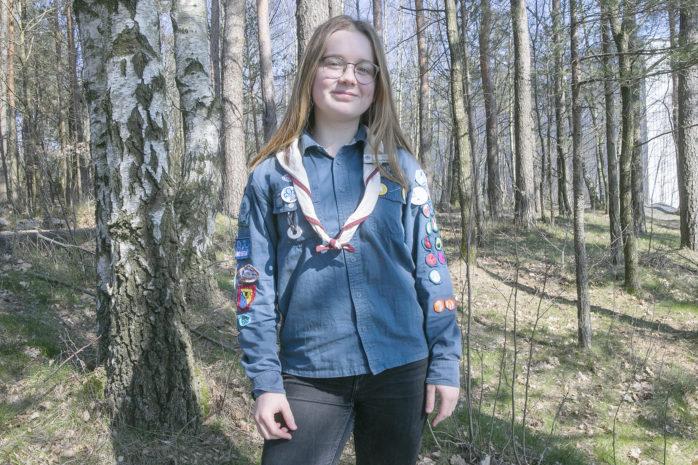 I sommar reser Lovisa Brännudd från Surte till USA tillsammans med 50 000 scouter från hela världen.