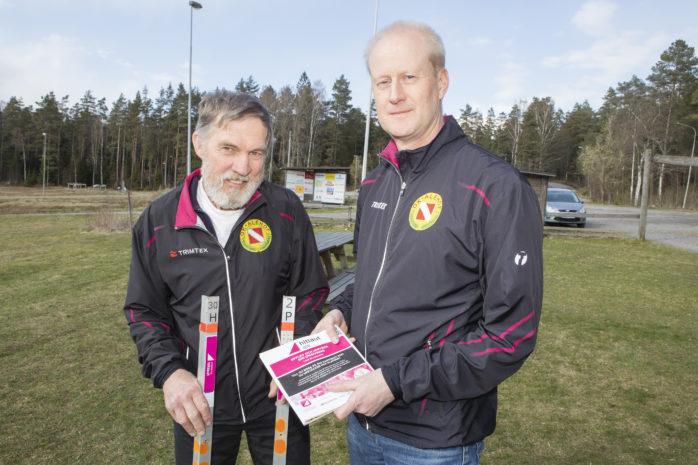Bengt Börjesson och Pär Johansson i OK Alehof välkomnar till en ny omgång av Hitta ut, där det gäller att samla checkpoints runtom i kommunen. Projektet tar sin början tisdagen den 7 maj.