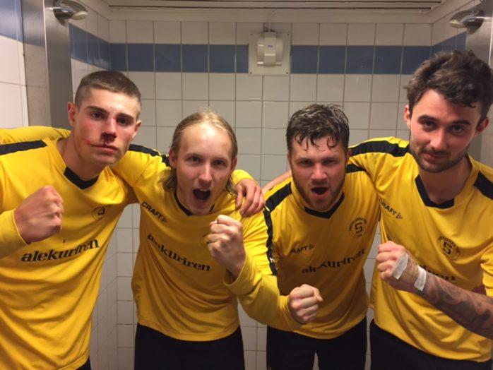 SBTK:s målskyttar: Emanuel Kollén, Jesper Johannesson, Edwin Modin och Rasmus Ydal.
