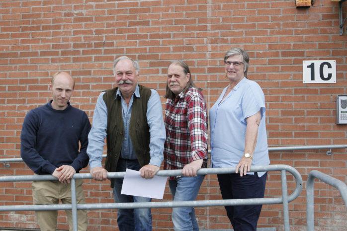 Sverigedemokraterna föreslår såväl besparingar som satsningar och omdisponeringar i budgeten för 2020. Från vänster: Robert Jansson, Jörgen Sundén, Charlie Ceder och Marita Henriksson.