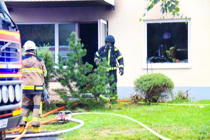 En lägenhetsbrand på Hanströmsgatan i Göta. Foto: Christer Grändevik