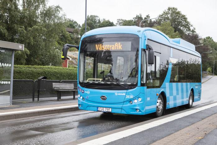 Elbussar börjar under augusti att trafikera fyra olika linjer i Ale kommun.