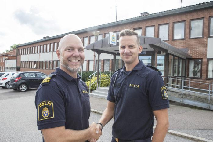 Från den 1 september och nio månader framåt lämnar Daniel Hjerpe över rollen som kommunpolis till Christian Nordén.