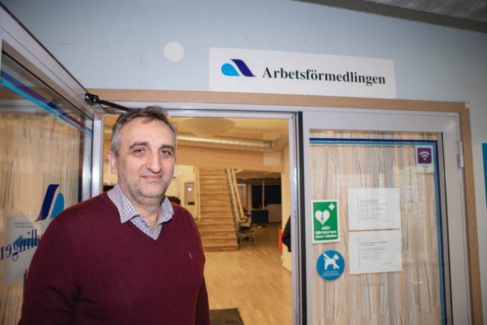 Den sista oktober i fjol stängde Safet Peci dörren till Arbetsförmedlingens kontor i Nödinge. Nu finns det indikationer på att kontoret kan komma att öppnas igen. Arkivbild: Jonas Andersson
