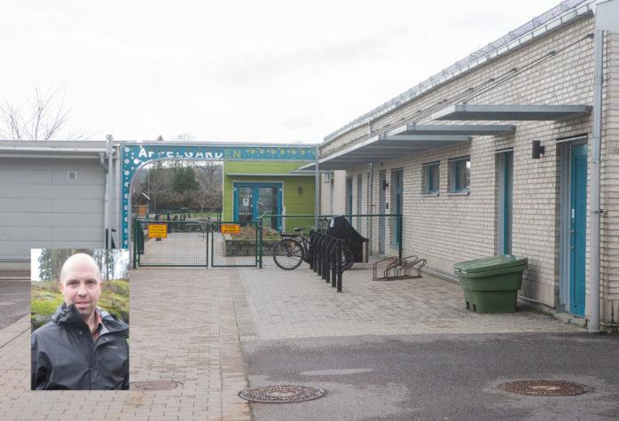 Föräldern Nicholas Savin är bekymrad över situationen på Äppelgårdens förskola.