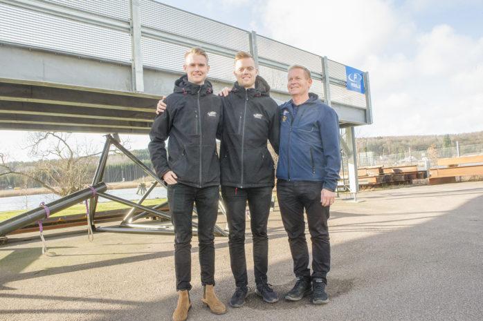 Jonas Stenborg (höger) tillsammans med sönerna Philip och Simon driver JSS Stålteknik. Företaget i Surte håller just nu på att ta fram ett unikt mobilt parkeringshus.