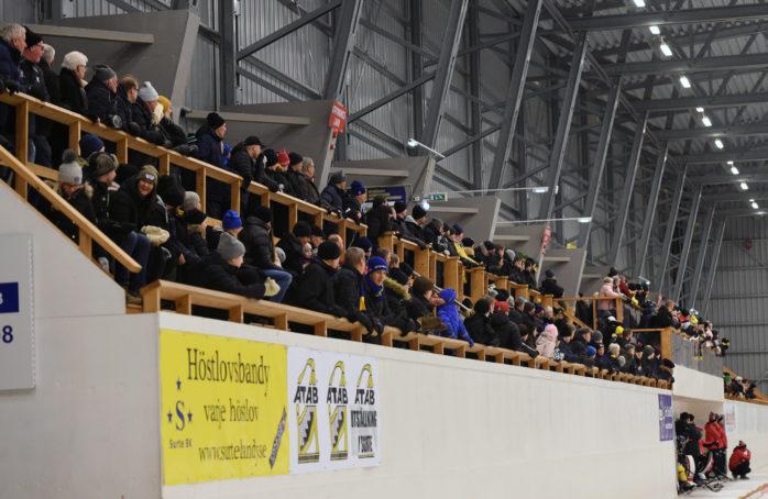Max 400 personer får se Surtes ödesmatch mot UNIK. Arkivbild: Allan Karlsson.