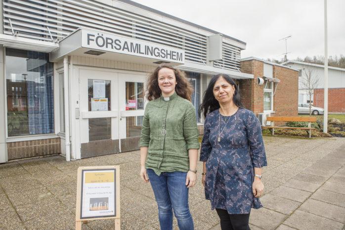 Jane Lindberg och Naida Destici i Skepplanda pastorat informerar om att Svenska kyrkan i Ale och Lilla Edet nu erbjuder hjälp med handling till riskgrupper med anledning av coronautbrottet.