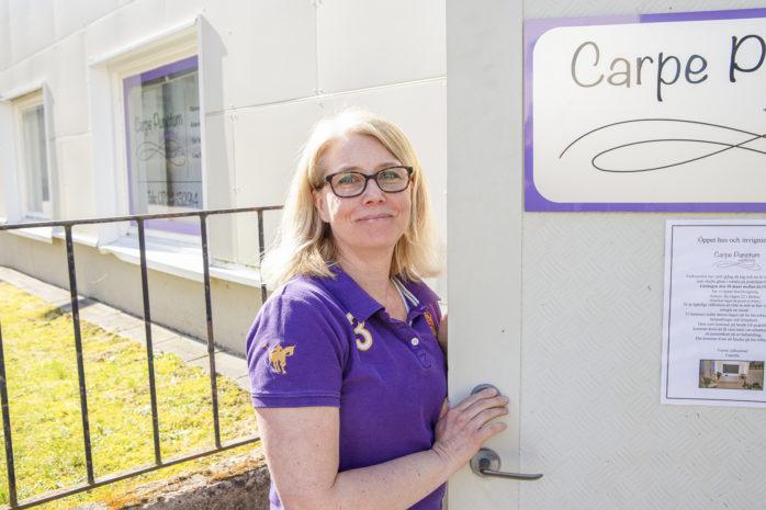 Camilla Alverby på Carpe Punctum i Bohus som höll öppet hus i lördags.