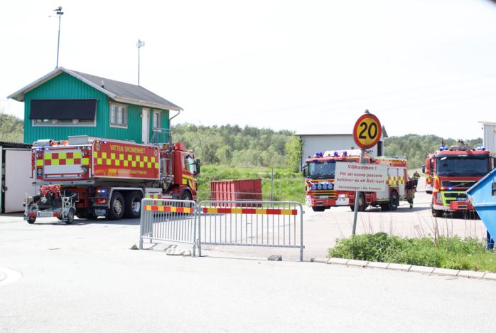 Räddningstjänsten och polisen larmades till Sörmossen i Bohus. Foto: Jonas Corneliusson.