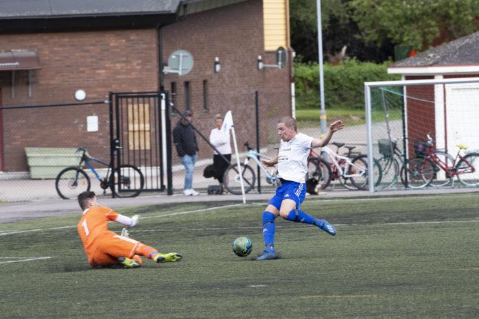 Robert Hedelin gjorde ett mål för ÄIK mot Björndammens BK/Öjersjö IF. Arkivbild.