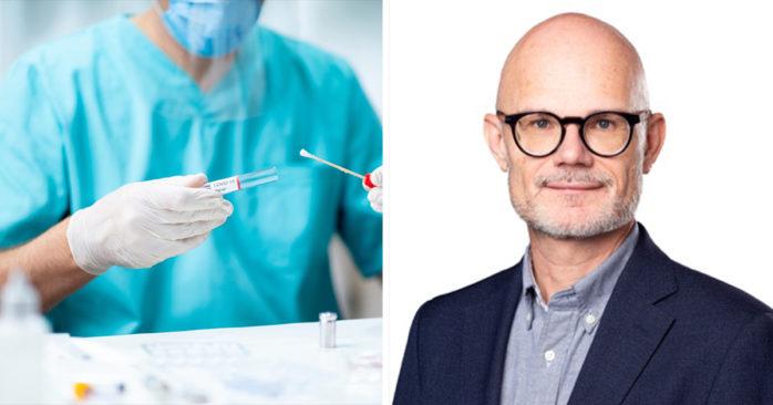 Thomas Wahlberg, smittskyddsläkare i Västra Götalandsregionen. Foto: Catharina Fyrberg/VGR.