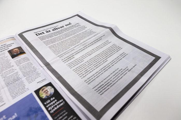 Vårdcentralcheferna i kommunen har skrivit ett öppet brev om coronaläget.