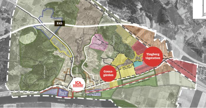 Planeringen för en utbyggnad av Lödöse har tagit ny fart. Totalt handlar det om 1500 nya bostäder, skola och förskola. Det är området mellan tågstationen i Tingberg och nuvarande Lödöse södra som ska länkas samman.