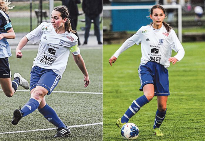 Annie Dahlberg lämnar Älvängen för Jitex Mölndal i Elitettan och Anna Siverbo är klar för Kopparbergs/Göteborg. Arkivbilder.