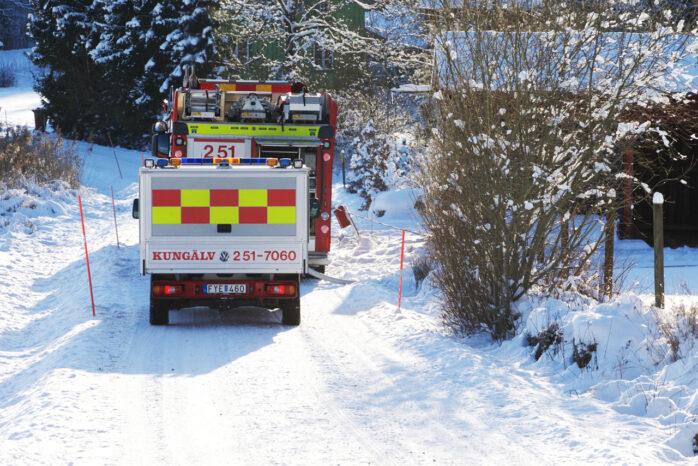 Räddningstjänsten larmades till villabrand i Hålanda.