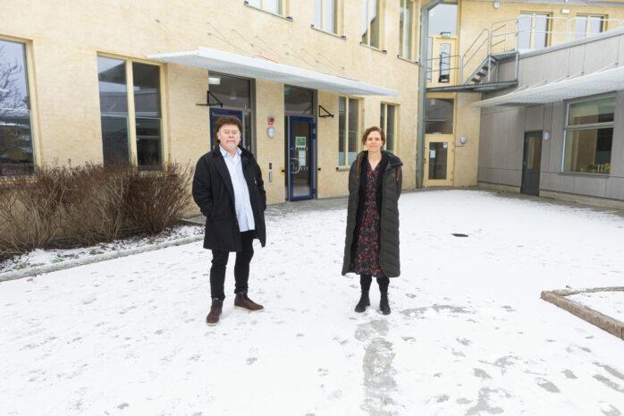 Pär Holmertz och Katarina Lycke är nya rektorer på Da Vinciskolan i Nödinge.