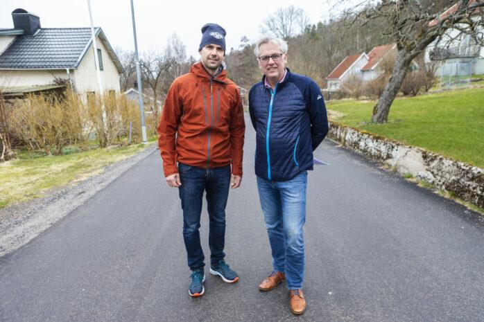 Mikael Fischer och Mikael Andersson från Bohus-Surte vägförening.