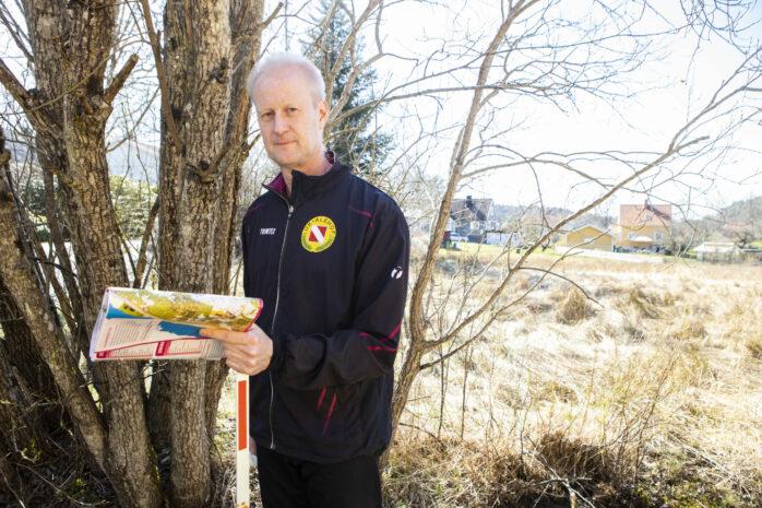 Pär Johansson från OK Alehof ansvarar för Hitta ut, som är en populär form av fysisk aktivitet där du med hjälp av karta letar checkpoints i din omgivning.