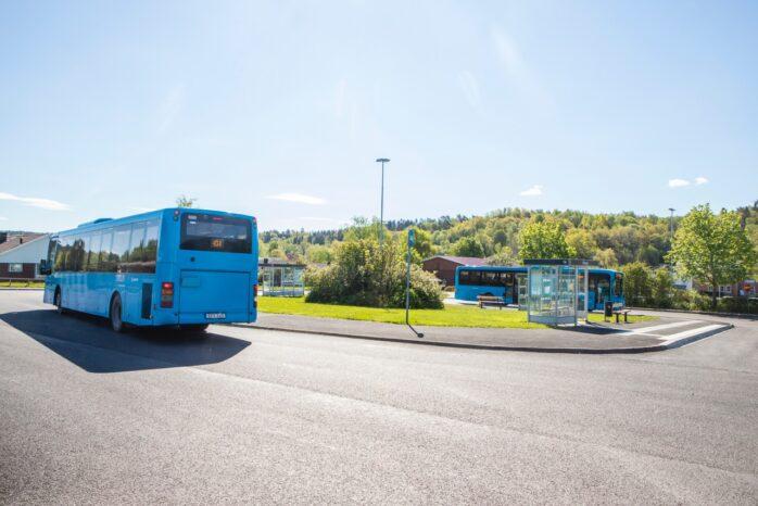 Busstorget i Skepplanda har asfalterats och tillgänglighetsanpassats.