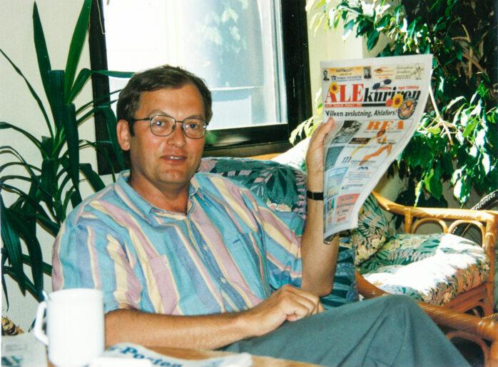 Bengt Johansson från Ryk blev Generalkonsul i Shanghai och gästade spontant Alekurirens redaktion vid ett återbesök i hemkommunen.