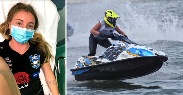Emma-Nellie Örtendahl kraschade våldsamt i den första VM-deltävlingen i jetski.