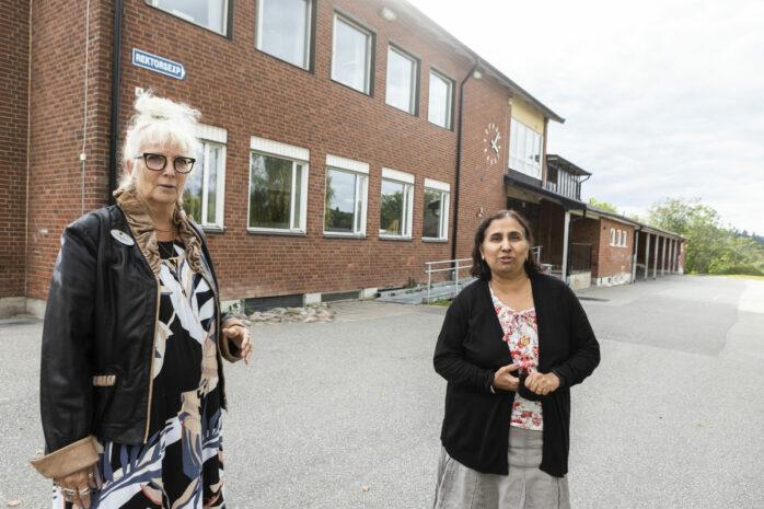 Anneli Eriksson, rektor, och Parveen S Wittlåck, förstelärare, konstaterar att Fuxernaskolan 7-9 befinner sig i en stark utvecklingsfas.