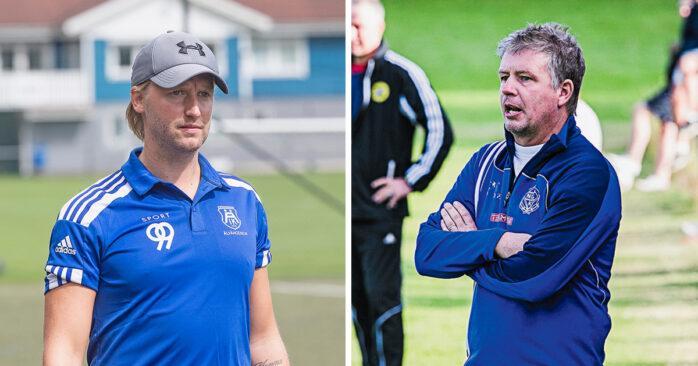 Niklas Tidstrand och Peter Karlsson, tränare i ÄIK respektive Nol, ser fram emot morgondagens derby.
