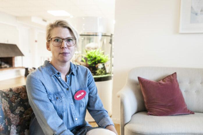 Malin Roos är ny enhetschef på Björklidens äldreboende i Alafors.