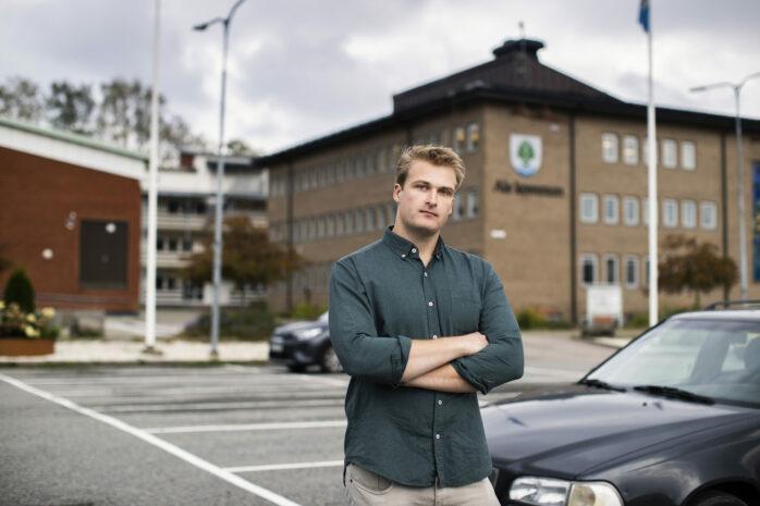 Oskar Thompson har bildat ett nytt lokalt parti. Alelistan vill sätta ljuset på viktiga frågor som etablerade partier inte tar upp. Bild: Jessica Lindén.