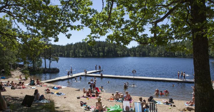 Hultasjön – Ales mest populära badplats!