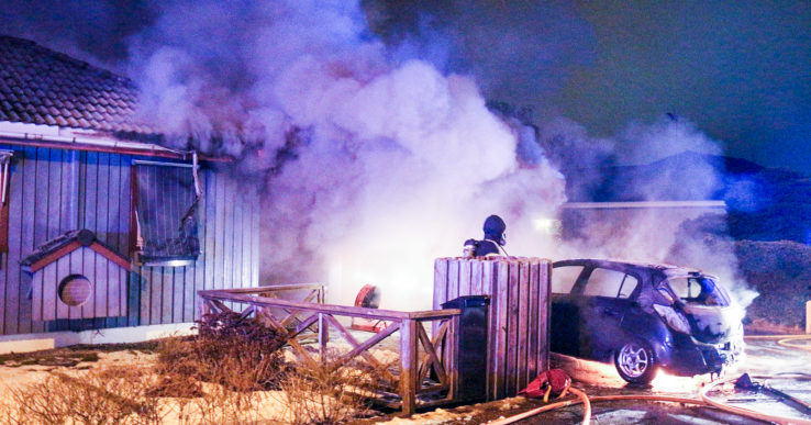 Villabrand i centrala Nödinge