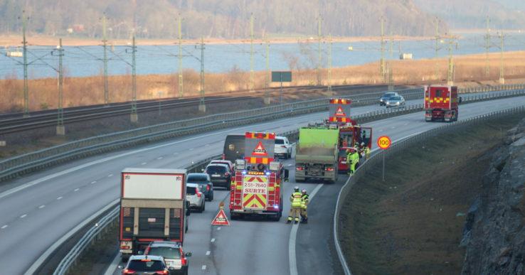 Trafikolycka på E45