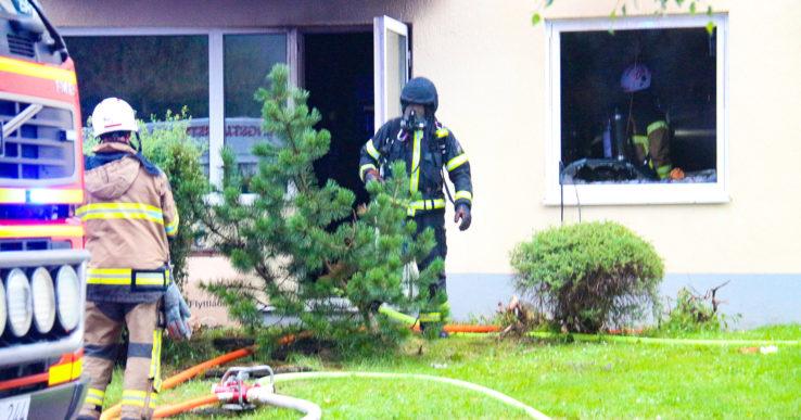 Lägenhetsbrand i Göta