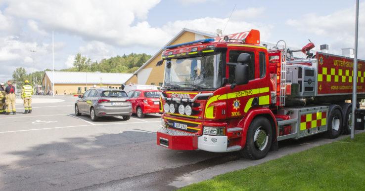 Kyrkbyskolan utrymdes efter brand